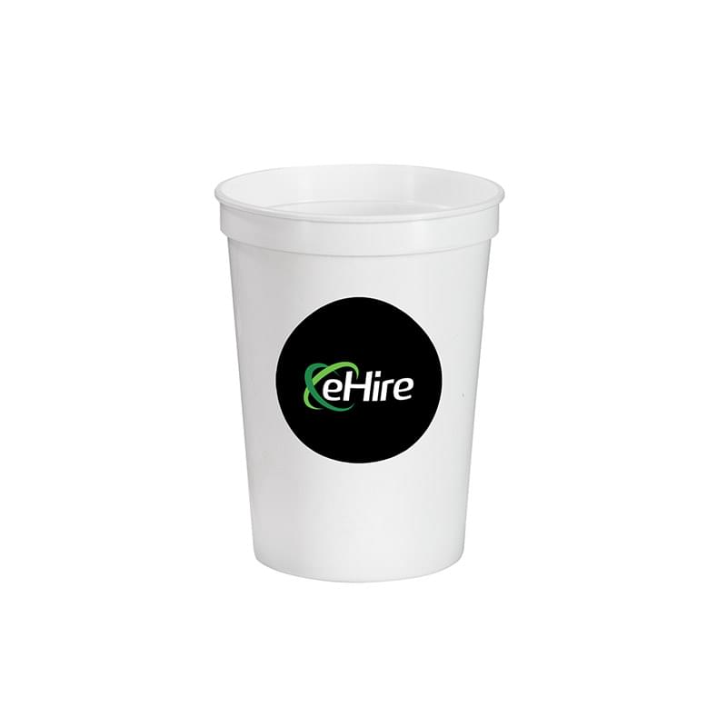 12 oz.Full Color Stadium Cup -White