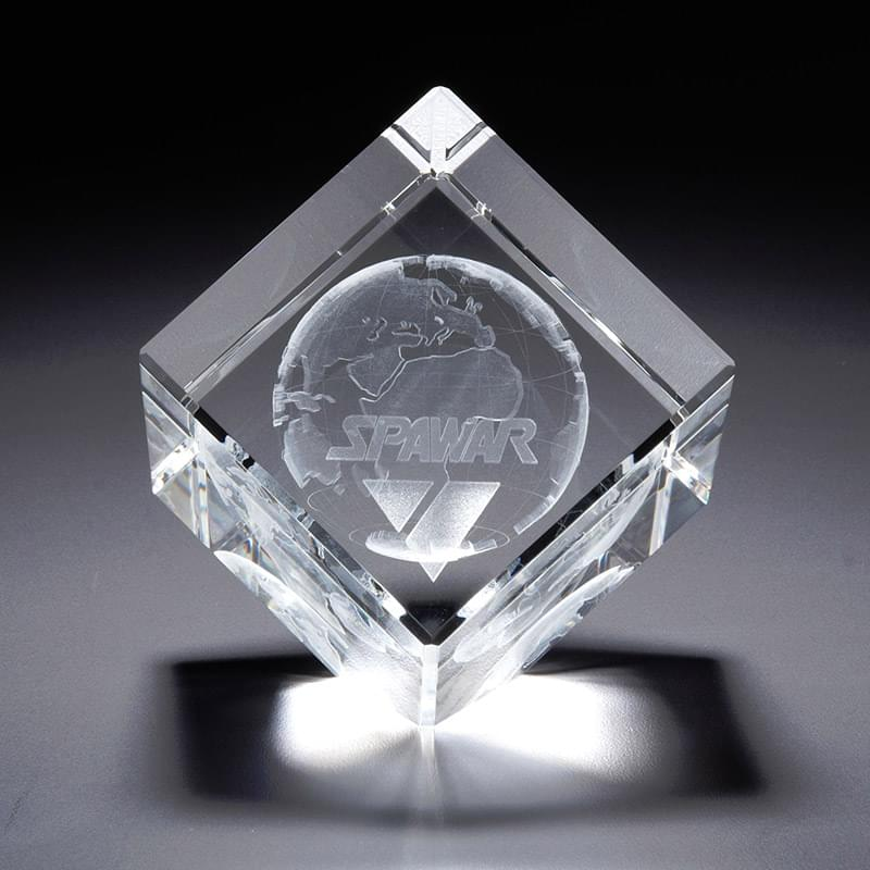 3D Crystal Jewel Cube Large Award