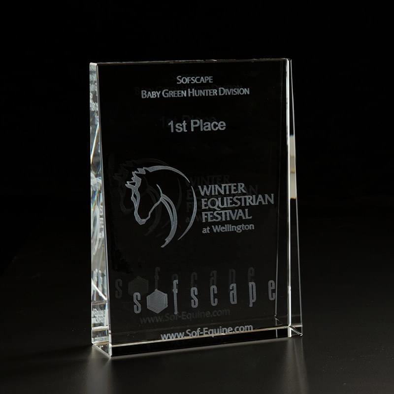 3D Crystal Wedge Large Award