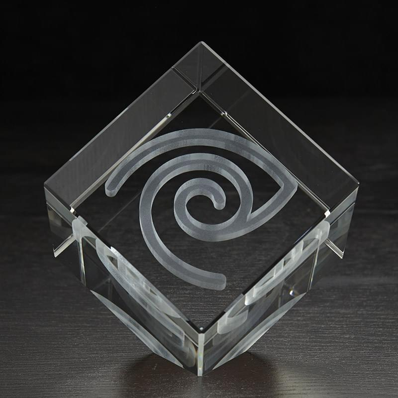 Extra Large Jewel Cube 3D Crystal Award