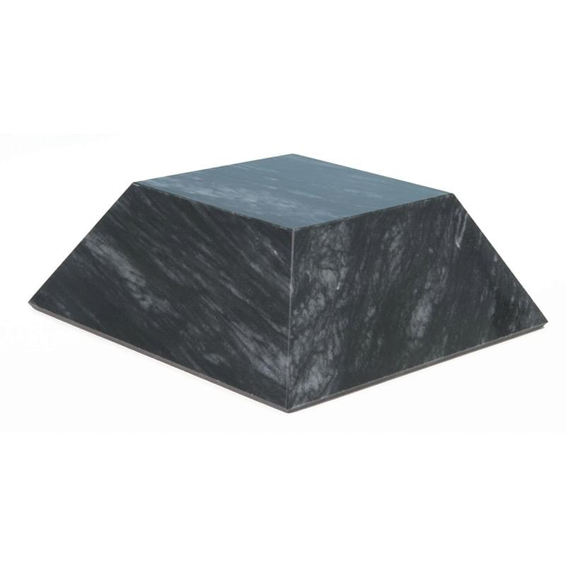 Large Black Marble Pyramid Base