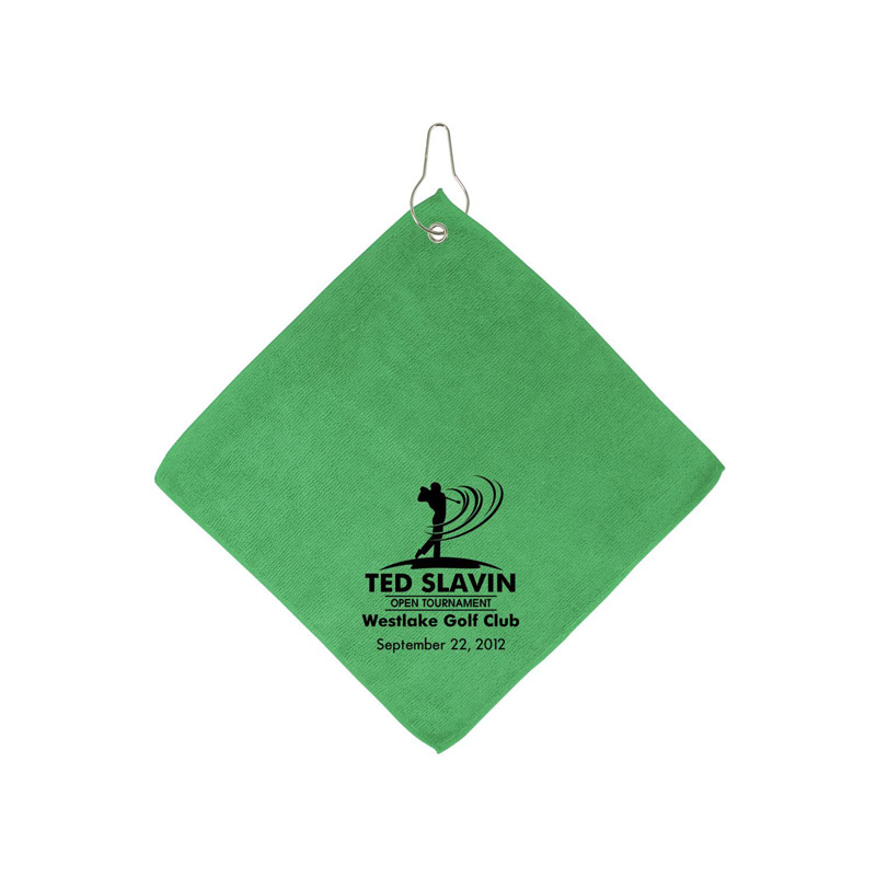 Microfiber Golf Towel W/Hook