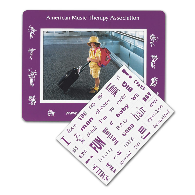 40 Words Message Magnet w/ Picture Frame