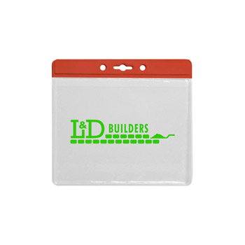 Horizontal Jumbo Badge Holder - Translucent