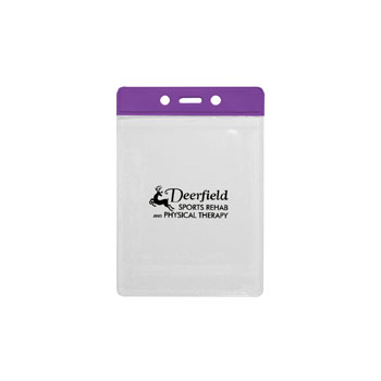 Vertical Jumbo Badge Holder - Translucent