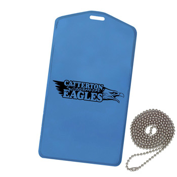 Waterproof Pouch w/ Beaded Chain-Translucent