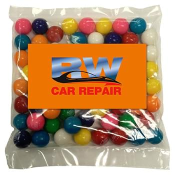 Business Card Magnet w/Large Bag of Gumballs