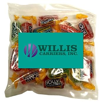 Business Card Magnet w/Large Bag of Jolly Ranchers