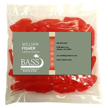 Business Card Magnet w/Large Bag of Swedish Fish