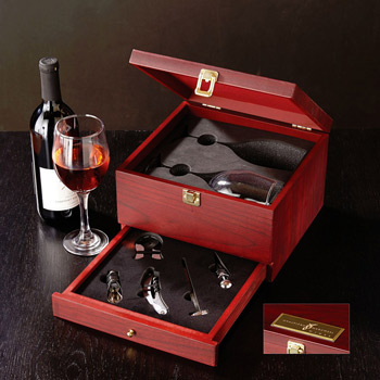 Rosewood Wine Glass Set