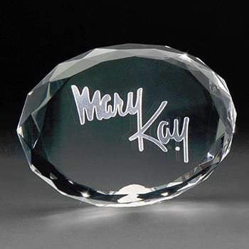 3D Crystal Oval Paperweight