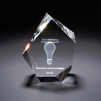 3D Crystal Maximo Small Award