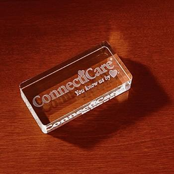 3D Crystal Rectangle Paperweight