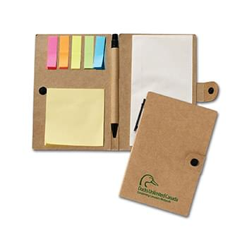 Recycled Jotter W/Post A Note & Flag Set