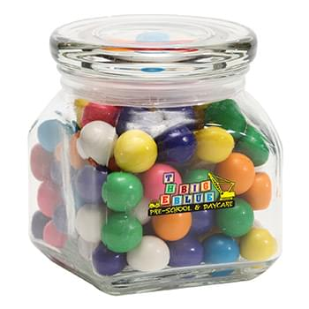 Gum Balls in Small Glass Jar