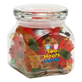 Gummy Bears in Small Glass Jar