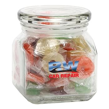 Life Savers in Small Glass Jar