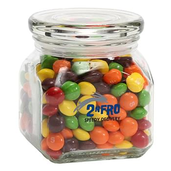 Skittles in Small Glass Jar