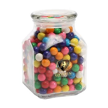 Gum Balls in Large Glass Jar