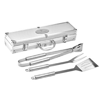 Hard Case 3 Piece BBQ Set