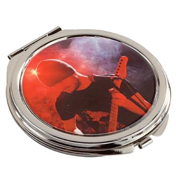 Round Metal Compact Mirror
