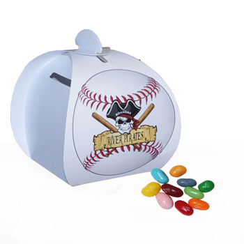 Baseball Paper Bank with Mini Bag of Jelly Bellies