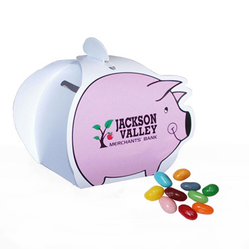 Piggy Paper Bank with Mini Bag of Jelly Bellies