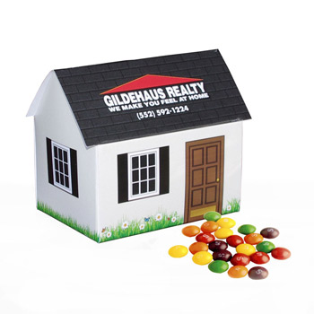House Paper Bank with Mini Bag of Skittles