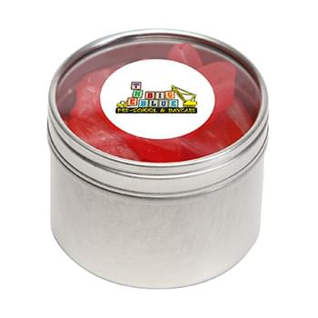 Swedish Fish in Small Round Window Tin