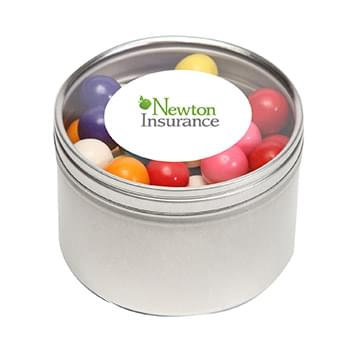 Gum Balls in Large Round Window Tin