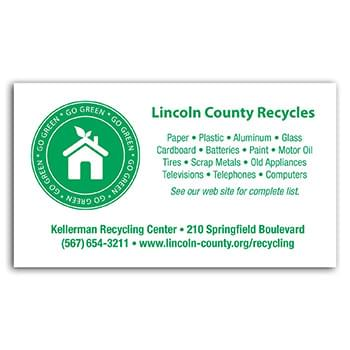Go Green Business Card Magnet