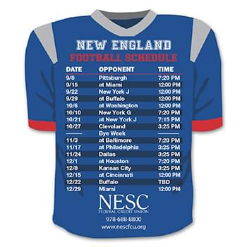 Schedule Team Jersey Magnet