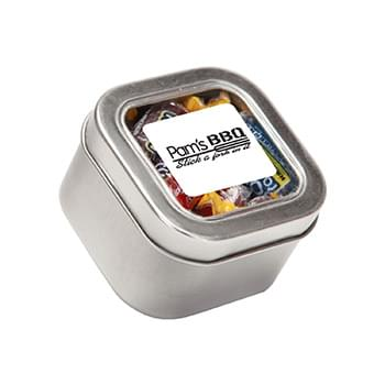 Jolly Ranchers in Small Square Window Tin