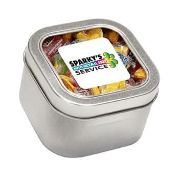 Jolly Ranchers in Large Square Window Tin