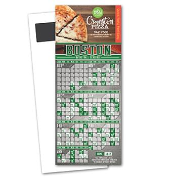 Basketball Schedule Magnetic Stick Up Card