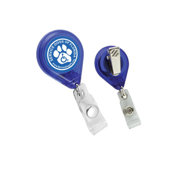 Tear Shape Retractable Badge Holder