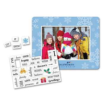 Holiday Message Magnet with Picture Frame